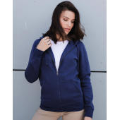 Ladies' Authentic Melange Zipped Hood Sweat