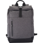 Clique Roll-Up Backpack antraciet melange