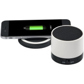 Cosmic Bluetooth® speaker en draadloos oplaadstation - Wit