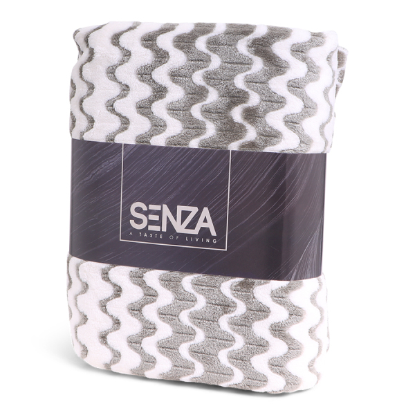 SENZA Waves Blanket White/Green