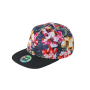 6 Panel Crown Printed Pro Cap bloem/zwart