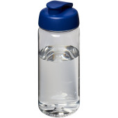 H2O Octave Tritan™ 600 ml sportfles met flipcapdeksel - Transparant/Blauw