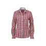 Ladies' Checked Blouse bordeaux/wit