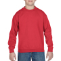 Gildan Sweater Crewneck HeavyBlend for kids red L