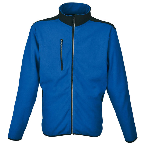 SW BESILA MEN heren fleece jack met softshell applicaties. 100% polyester fleece, softshell, 280 g/m2. S-3XL