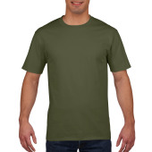 Gildan T-shirt Premium Cotton Crewneck SS for him Military Green S