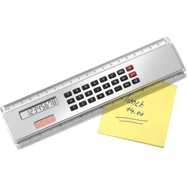 ABS ruler with calculator