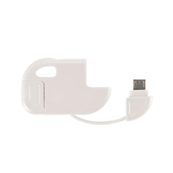 2 in 1 Micro USB kabel wit