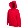Kids Classic Hooded Sweat, Red, 7-8jr, FOL