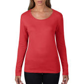 Women's Sheer LS Scoop Tee