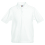 Kids 65/35 Polo, White, 14-15jr, FOL