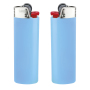 J26 Lighter BO light blue _BA white_FO red_HO chrome