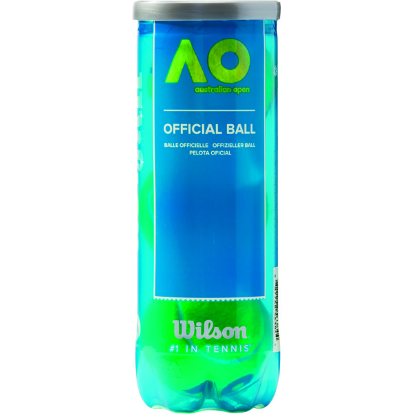 Wilson Australian Open Tennisballs in 3 Ball Tube