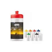 Bidon 500ml Full-Color druk wit / rood