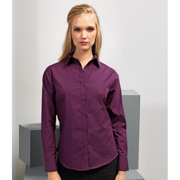 Ladies Long Sleeve Poplin Blouse
