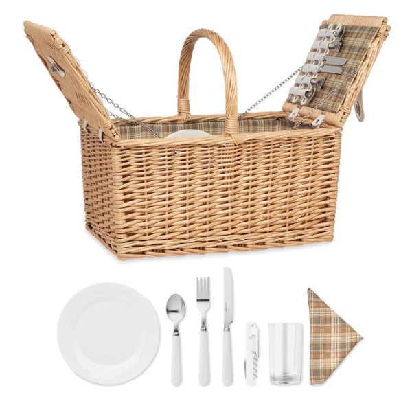 MIMBRE PLUS - Wicker picnic basket 4 people