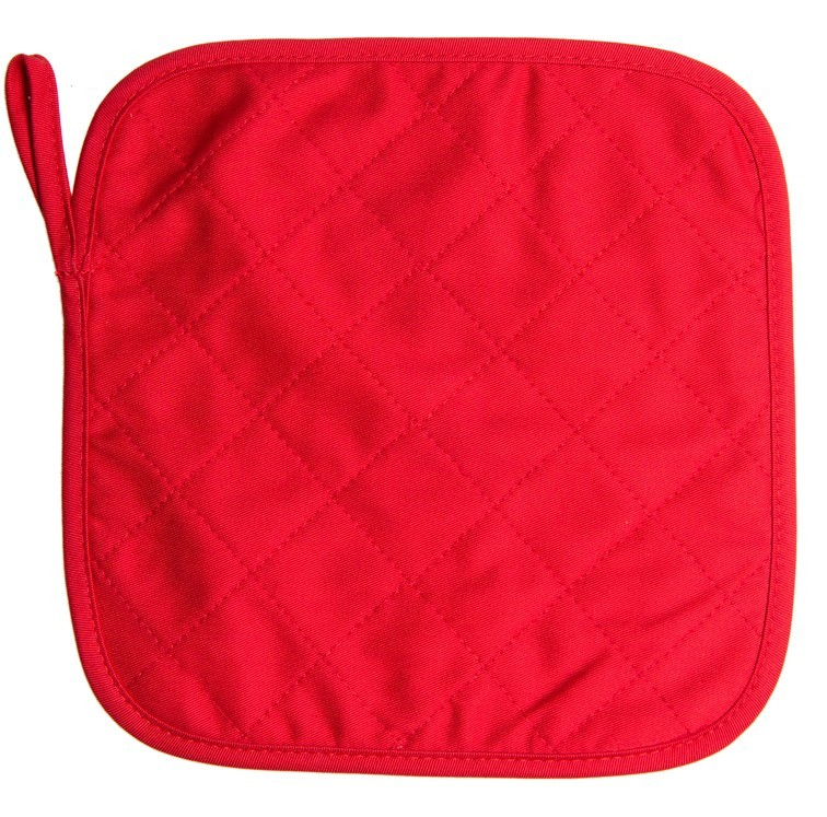 Pannenlap 23*23cm Rood acc. Rood
