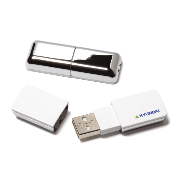 Bedrukte Chrome USB FlashDrive