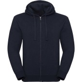 Authentic full zip hooded melange sweatshirt indigo melange s