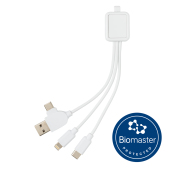 6-in-1 Antimicrobiële kabel, wit