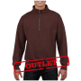 Gildan Sweater 1/4 Zip HeavyBlend Russet-35% korting XXXL