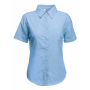 Lady-Fit s/s Poplin Shirt, Mid Blue, XS, FOL