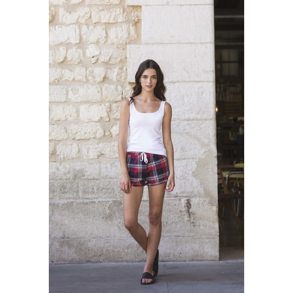 Women's tartan frill lounge shorts