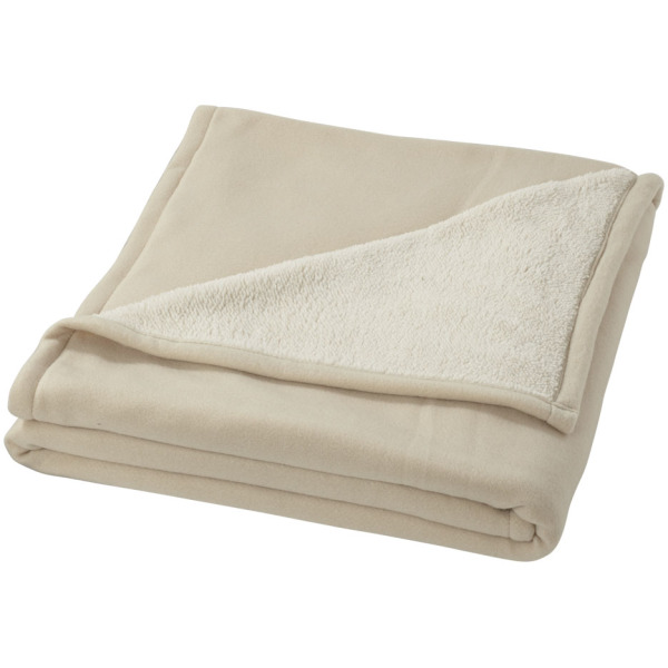 Springwood soft fleece and sherpa plaid blanket