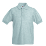 Kids 65/35 Polo, Heather Grey, 14-15jr, FOL