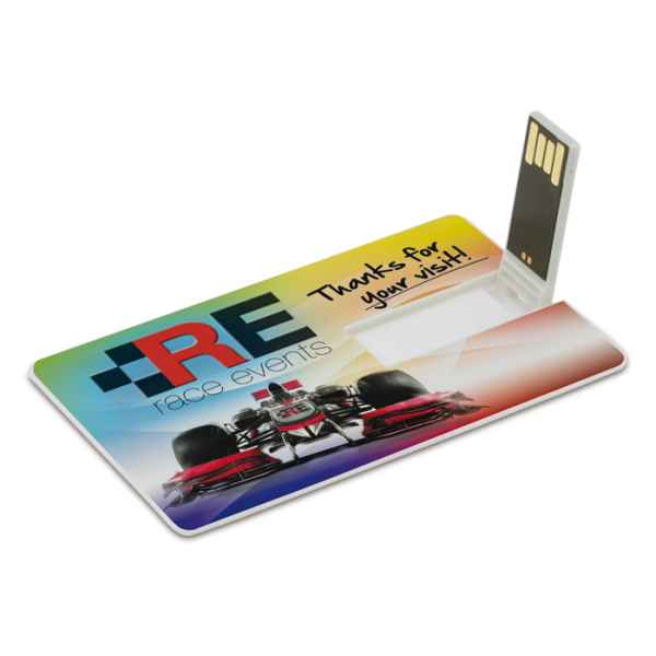 Bedrukte USB stick 2.0 card 16GB