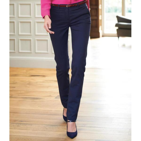 Ladies Houston Slim Leg Chino Trousers