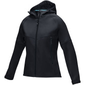 Coltan dames GRS-gerecycled softshell jack - Zwart - XS