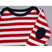 Baby Stripy Long Sleeve T - Navy/Washed White/Red