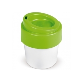 Hot-but-cool koffiebeker met deksel 240ml - Wit / Licht groen