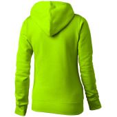 Alley dames sweater met capuchon - appelgroen - L