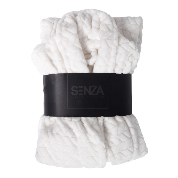 SENZA Fishbone Bathrobe White