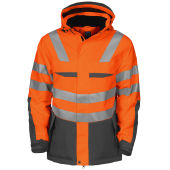 PROJOB 6418 PADDED JACKET ORANGE HV XL