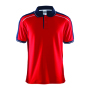 Craft Noble polo pique shirt men red/da.navy 4xl