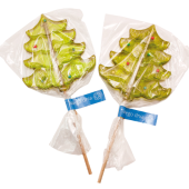 Kerstboom lolly met label