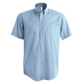 Heren stretch overhemd korte mouwen light blue xxl