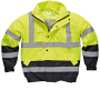 High visibility two tone pilot jacket yellow / navy xxl