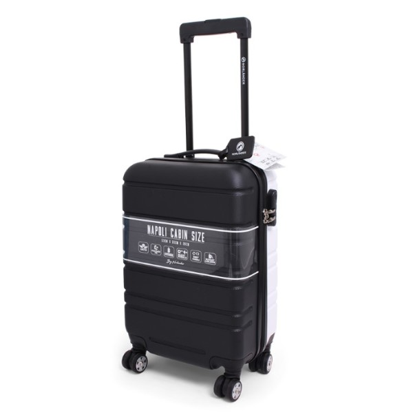 Cabin Size Trolley Napoli Black on White