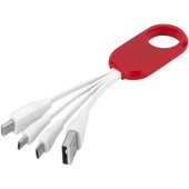Troup 4-in-1 oplaadkabel met clip van type C - Rood