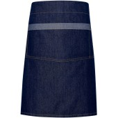 Domain - contrast denim waist apron indigo denim 'one size