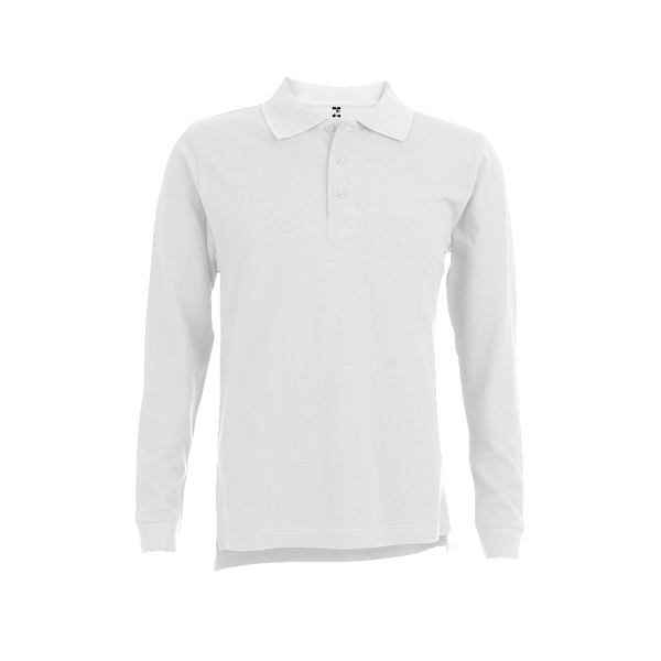 THC BERN WH. Men's long sleeve polo shirt
