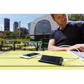 2.200 mAh solar powerbank, zwart - black