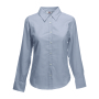 Lady-Fit longsleeve Oxford Shirt, Oxford Grey, S, FOL
