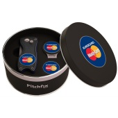 Pitchfix Cap Clip in Round tin with Pitchfix Classic and 1 extra Ballmarker