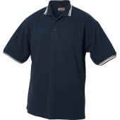 Amarillo polo pique tipping navy/wit m