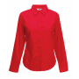 Lady-Fit longsleeve Poplin Shirt, Red, S, FOL